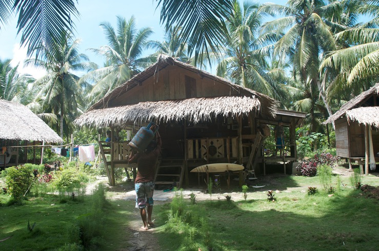 Traditional Mentawai Beach Hut